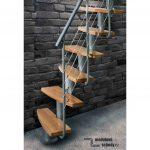 Detail mlynarskych schodu Mini Plus Rail samonosne schody na pudu