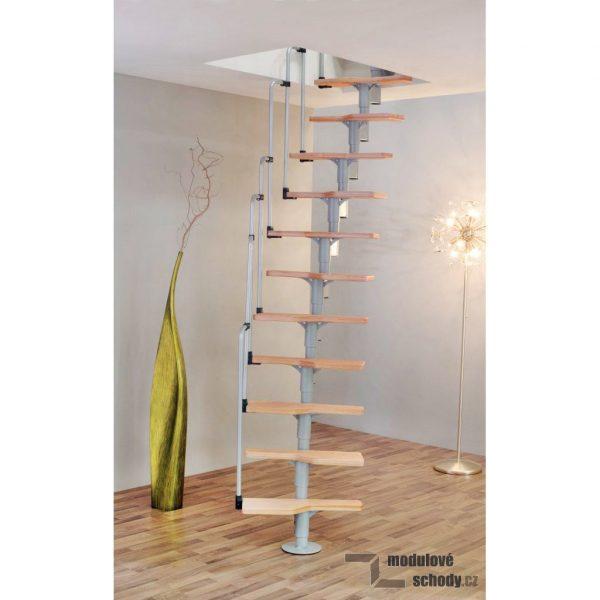 Modulove mlynarske schody Minka Twister_samonosne schodiste_3