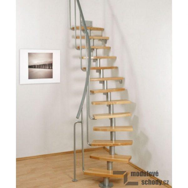 Mlynářské schody se stříbrnou konstrukcí
