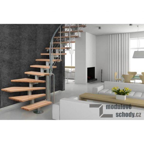 Modulove schody Atrium Segment_samonosne segmentove schodiste_2