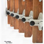 Modulove schody minka monaco detail ocelove patere