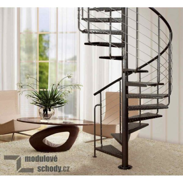 Modulove tocite schodiste Atrium Heavy Metal_samonosne schodiste_1