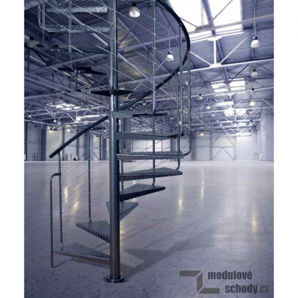 Modulove tocite schodiste Atrium Heavy Metal_samonosne schodiste_2