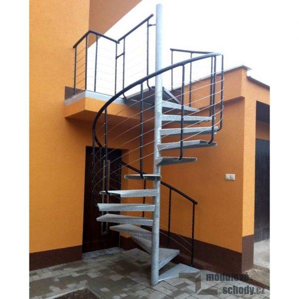 Modulove tocite schodiste Atrium Heavy Metal_samonosne schodiste_7