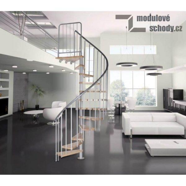 Modulove tocite schody Atrium Novo_samonosne schodiste_4