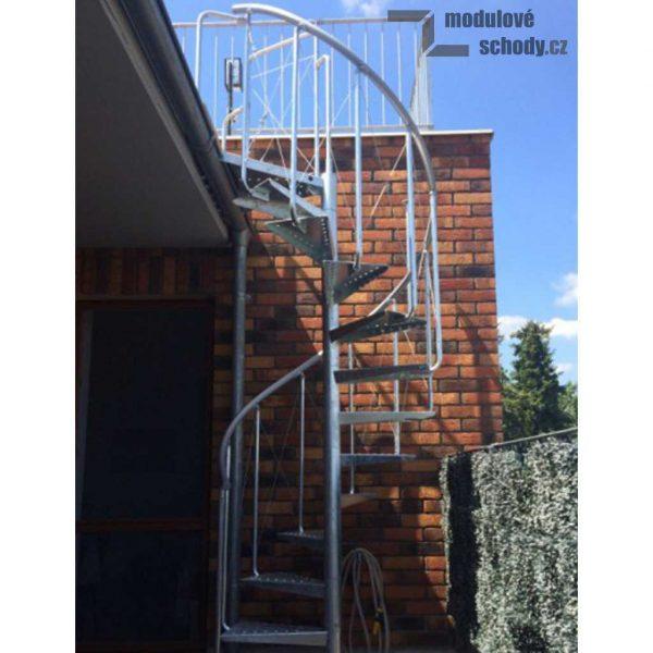 Modulove tocite schody Atrium Pinio Zink 120_samonosne venkovni schodiste_3