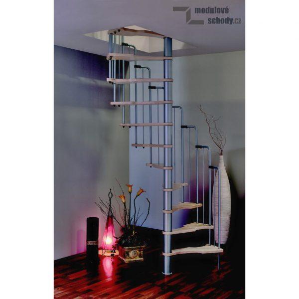 Vřetenové modulové schodiště Minka Metalica