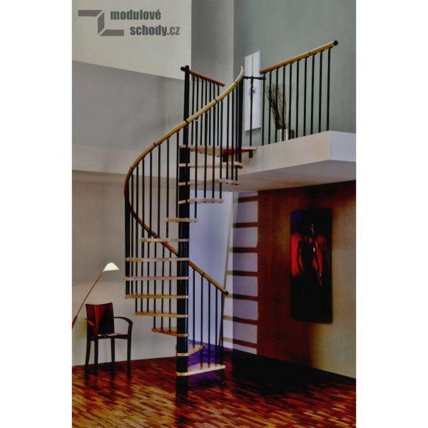 Modulove tocite schody Minka Rondo Spiral Wood black_samonosne schodiste_2