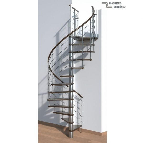 Moderní točité schody Minka Venezia Walnut