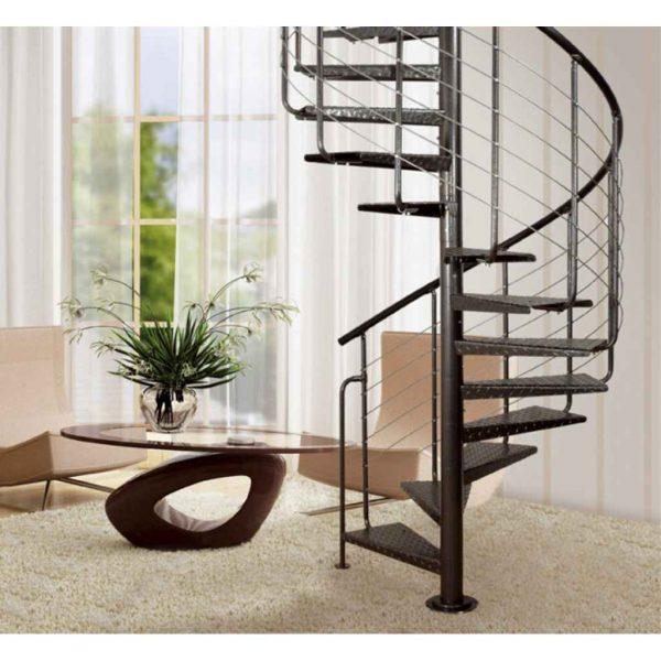 Interiérové točité schody z oceli - Atrium Heavy Metal