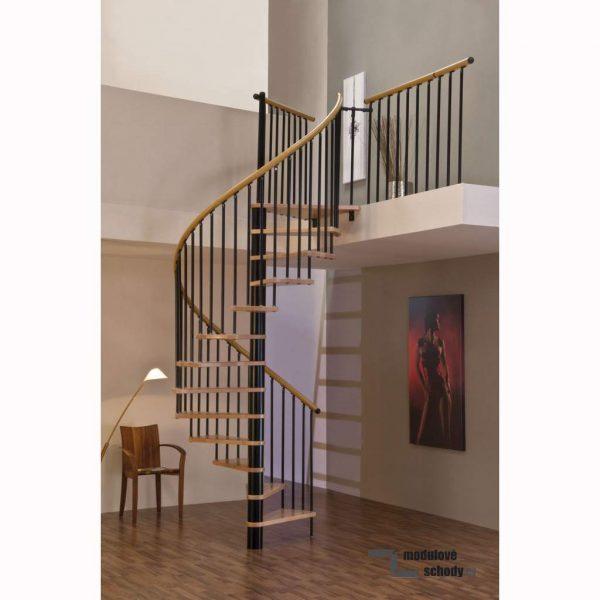 Točité schodiště Minka Spiral Wood Black