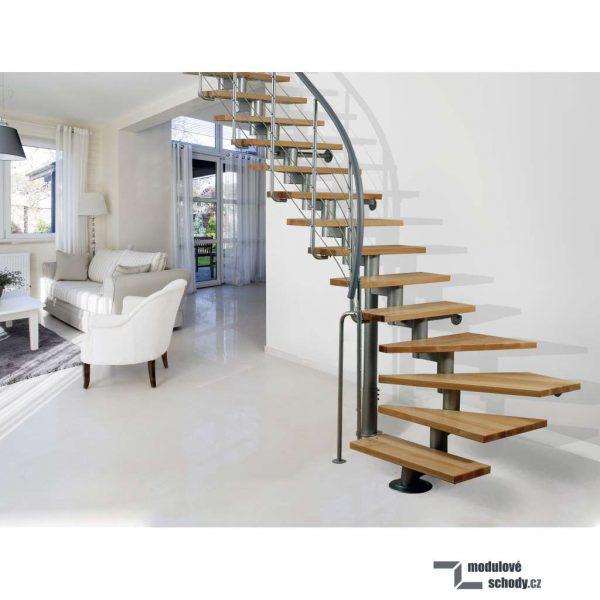 samonosné schody atrium segment